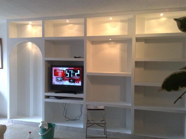 Foto muebles de pladur como de escayola de for Muebles de escayola para el salon