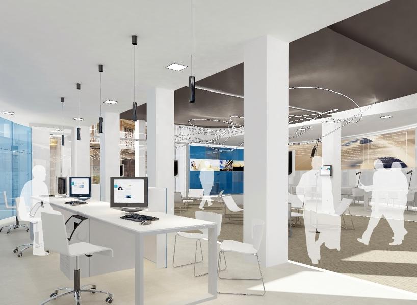 Foto Oficina Bancaria Nova Distribuci I Diseny Interior