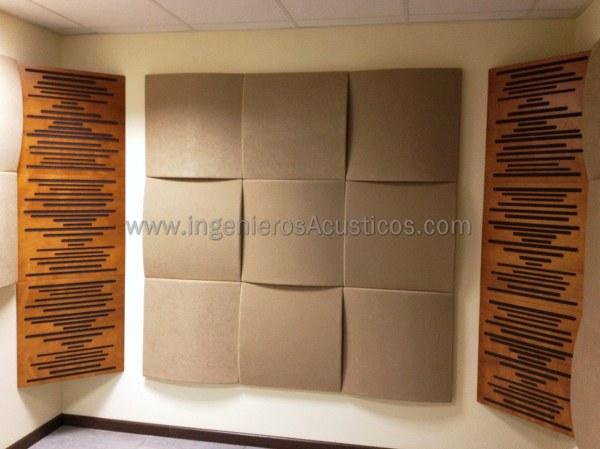 Foto paneles ac sticos como absorbentes ac sticos de - Paneles decorativos para pared ...