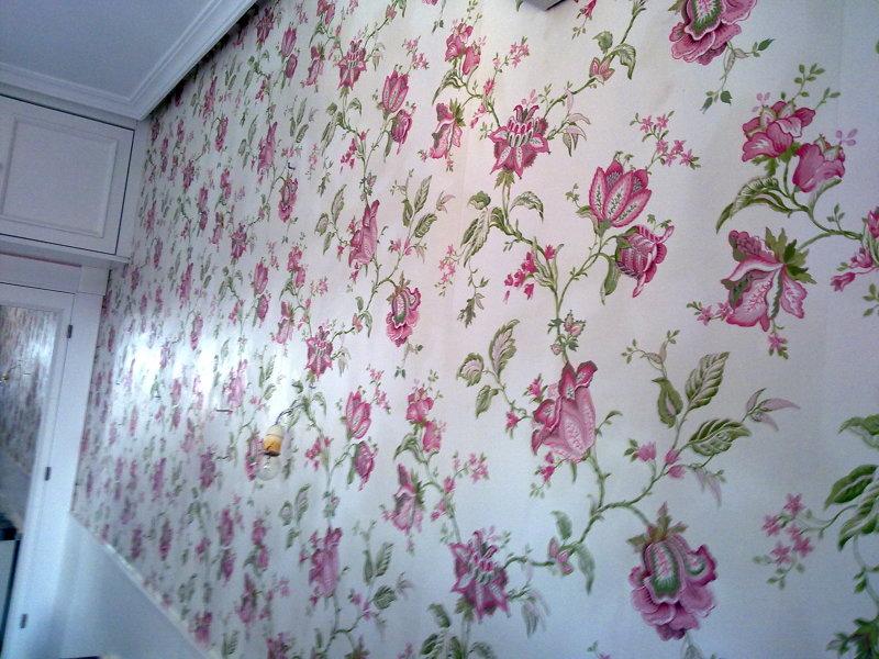 Foto papel pintado en habitacion juvenil de pindecor c b - Papel pintado para dormitorio juvenil ...