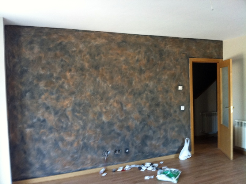 Foto pintura decorativa efecto oxido de lvarez pintura - Pintura decorativa para paredes ...