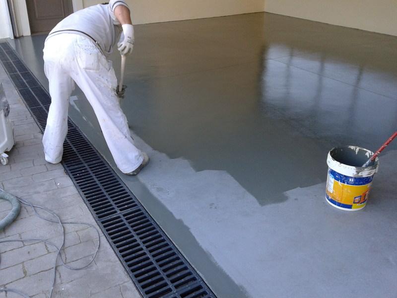 Foto pintura epoxi en garaje de pinturas decomadrid - Suelo para garaje ...