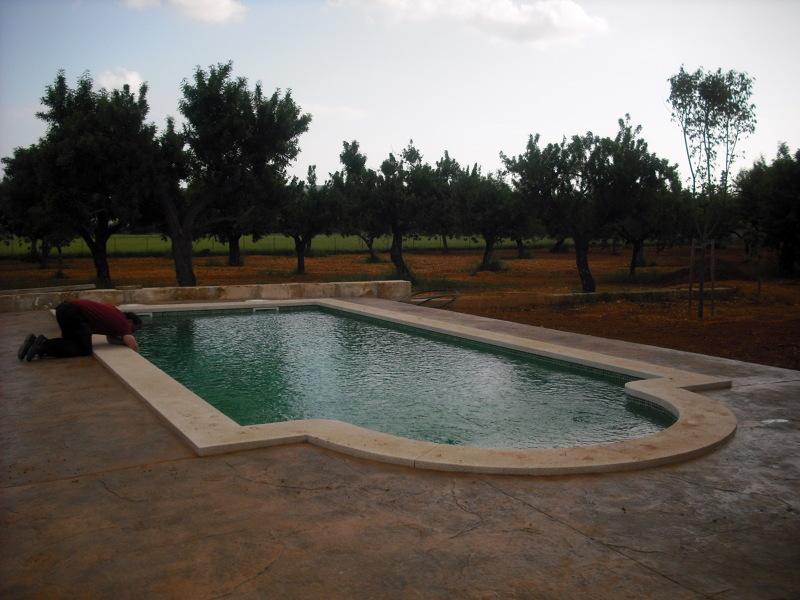 Foto piscina 8 x 4 con escalera romana de construcciones - Spa urbano valladolid ...