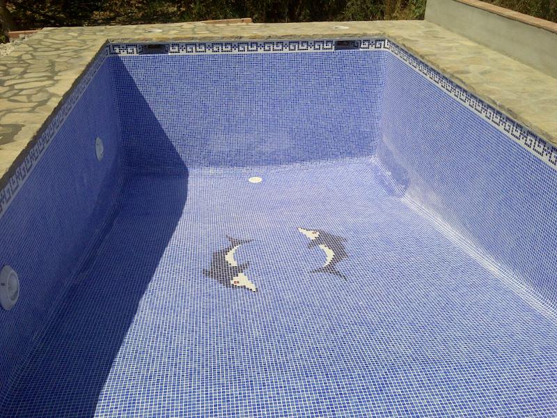 Foto piscina acabada con hormig n armado y borde de for Borde piscina hormigon