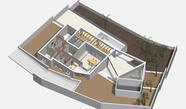 Planta 3D vivienda vacacional