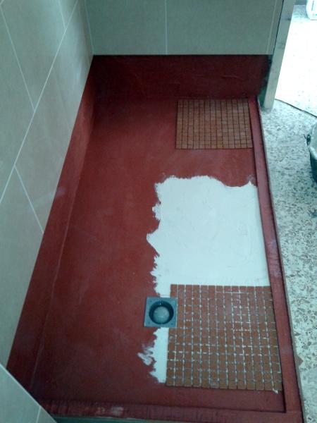 Foto plato de ducha con gresite de rg obras y reformas - Duchas con gresite ...