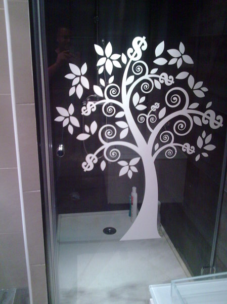 Foto plato de ducha silestone con mampara decorativa de - Plato de ducha de silestone ...