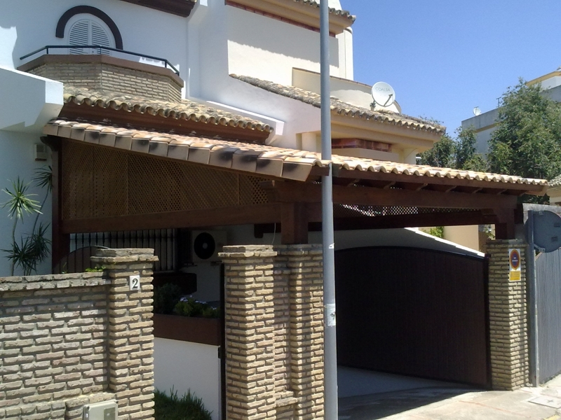Foto porche de entrada garaje de decopergola 346435 - Porche entrada vivienda ...