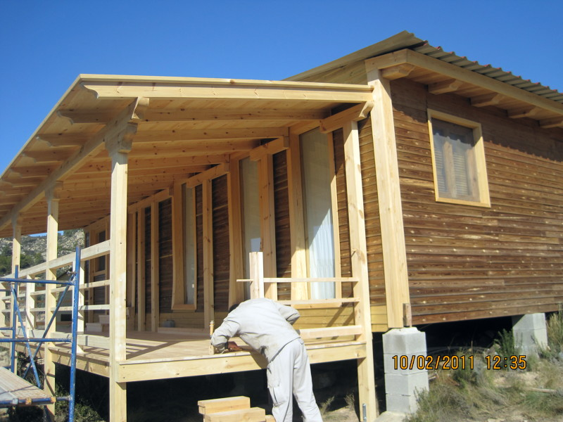 Foto porches y p rgolas de madera carpinter a latorre de - Porches de madera y cristal ...