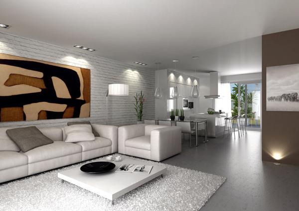 Foto proyecto interiorismo 3d de sal n moderno de io - Interiorismo salon comedor ...