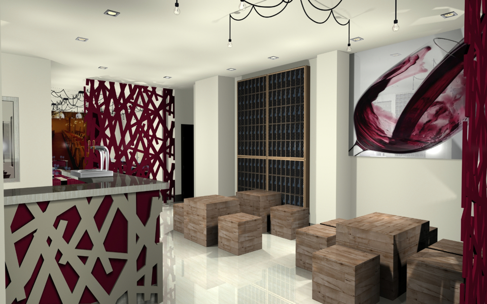 Foto proyecto vinoteca alcala de henares de stp proyectos - Fotos de vinotecas ...