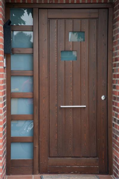 Foto puerta exterior de madera de carpinter a jos rutia s l 241031 habitissimo - Puertas exterior asturias ...