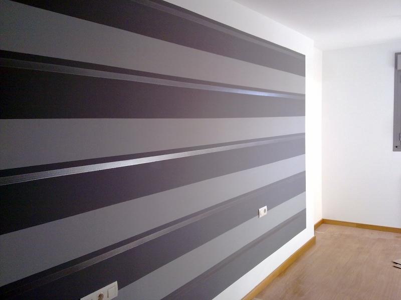 Foto rayas horizontales cabeceros de pintura en general chisco cendoya 400262 habitissimo - Rayas horizontales pared ...
