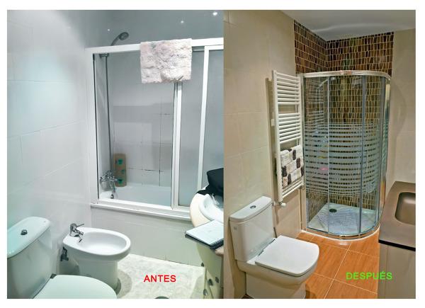 Foto reforma de ba o antes y despu s de proyectos de obras pemar 430372 habitissimo - Pintar azulejos de bano antes y despues ...