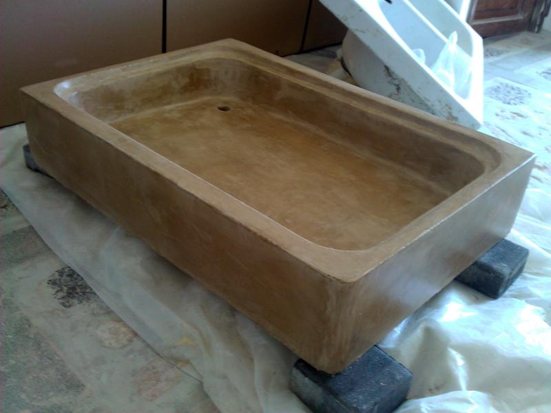 Foto reforma de pica con microcemento despues de beny - Picas de piedra para bano ...