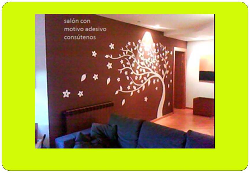 Foto sal n con detalle vinilo de pinturest sl 273907 - Vinilo para salon ...