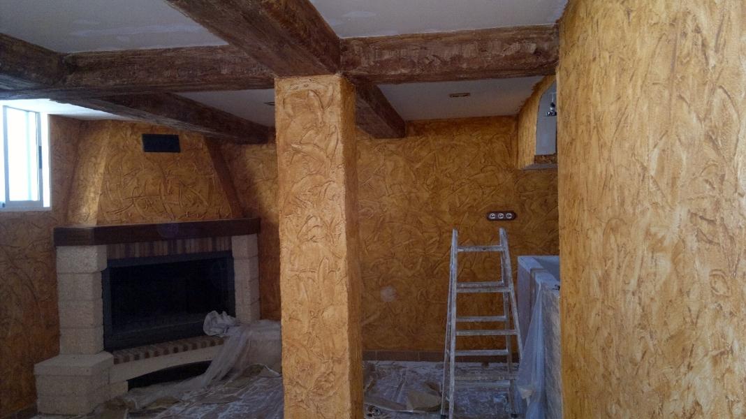 Foto salon rustico de pinturas jose sanchez s l 262832 for Visillos para salon rustico