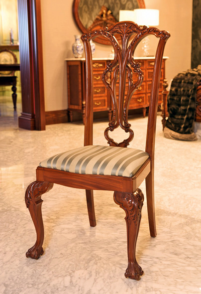 Foto silla cl sica tapizada de ebanister a arenas 245600 for Modelos de sillas clasicas