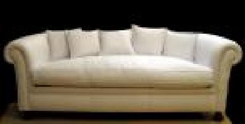 Foto sofa chesters liso respaldo con cojines tacto pluma - Respaldo para sofa ...