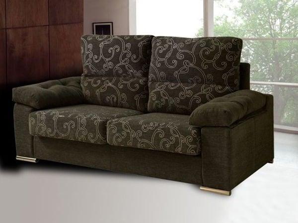 Foto sof tapizado en tonos marrones de tapizados segui - Sofas marrones decoracion ...