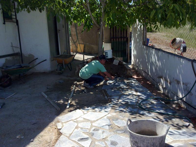 Foto suelo piedra natural en nou vendrell de refor casas - Suelos de casas ...