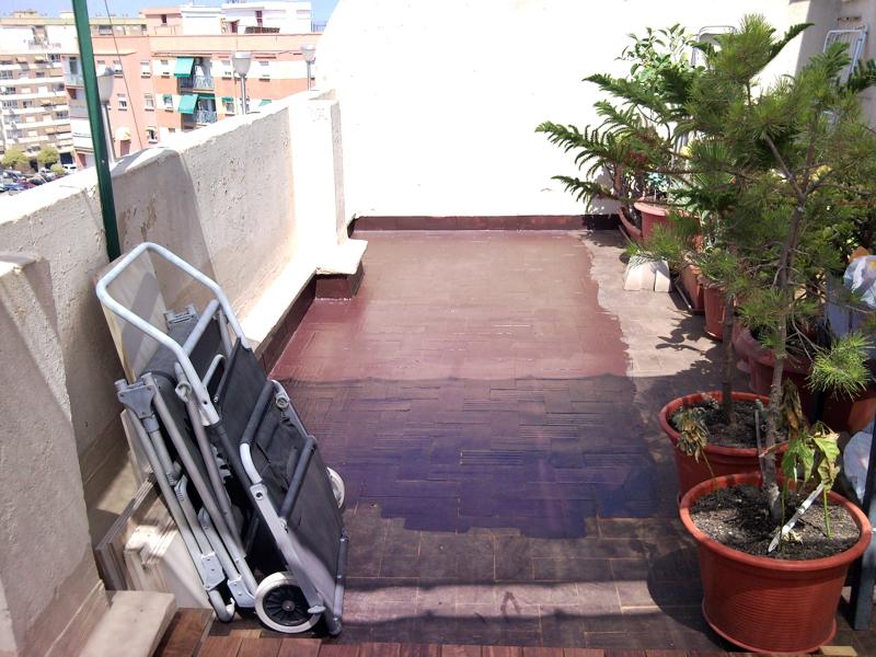 Foto tarima exterior ipe de steffen becker parquet - Reformar terraza atico ...