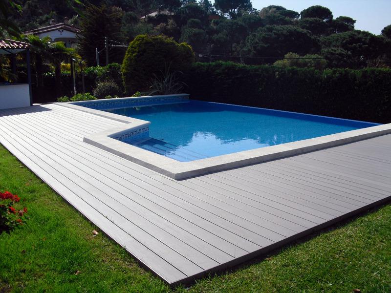 tarima piscina