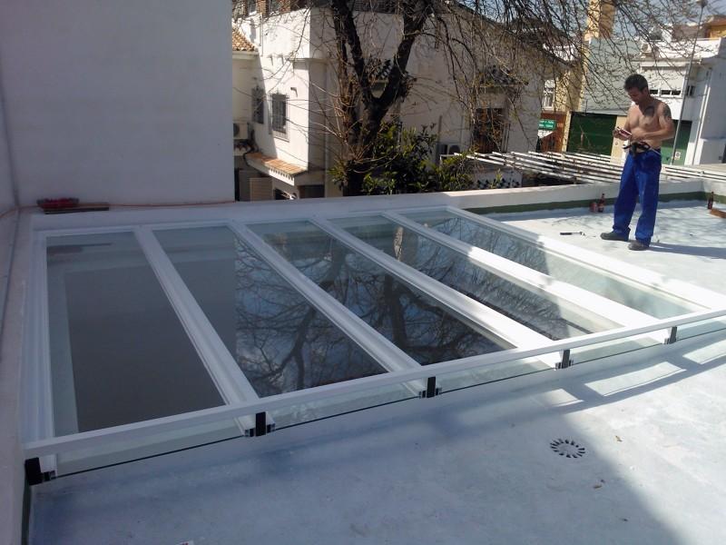 Foto techo de cristal vista superior1 de aluminios ropero 224212 habitissimo - Techos de cristal para casas ...