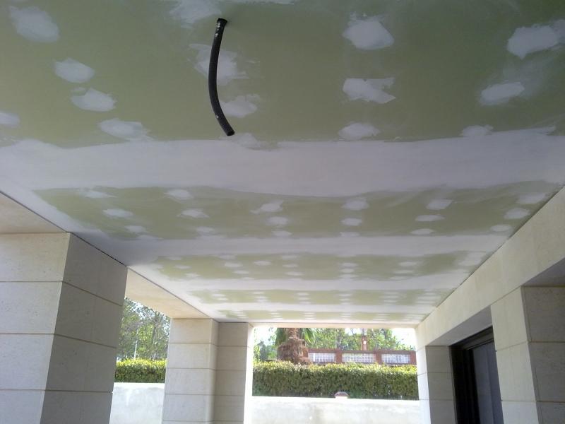 Foto techo pladur antihumedad terraza de escayolas y - Fotos de techos de pladur ...