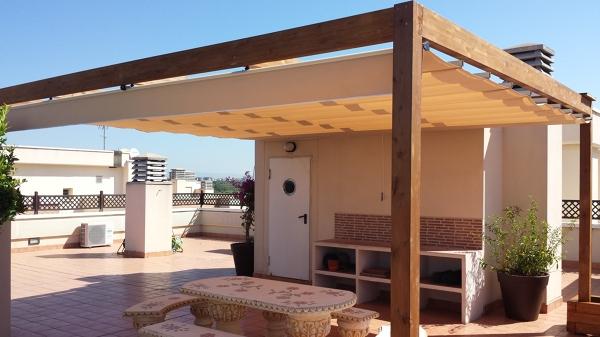 Foto toldo palillero de madera de montol sl 725184 - Precio toldo terraza ...