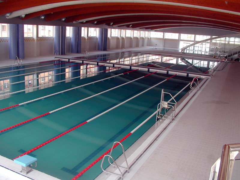 Foto piscinas olimpicas de oviedo de arquitecto t cnico e for Piscina 50 metros cadiz