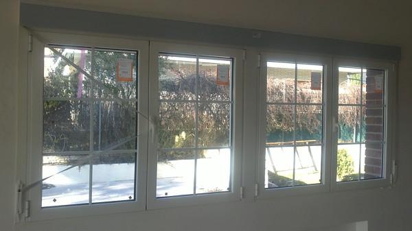 Foto vision interior de ventana de 4 hojas con rotura de puente termico de aluminios - Ventanas rotura puente termico ...