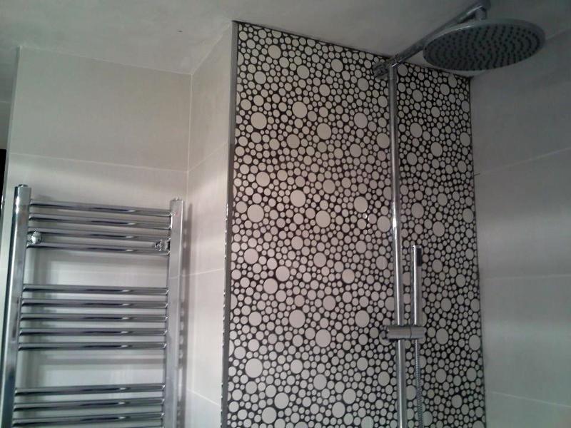 Foto zona ducha con duch n y frontal en gresite de romar - Ducha de gresite ...