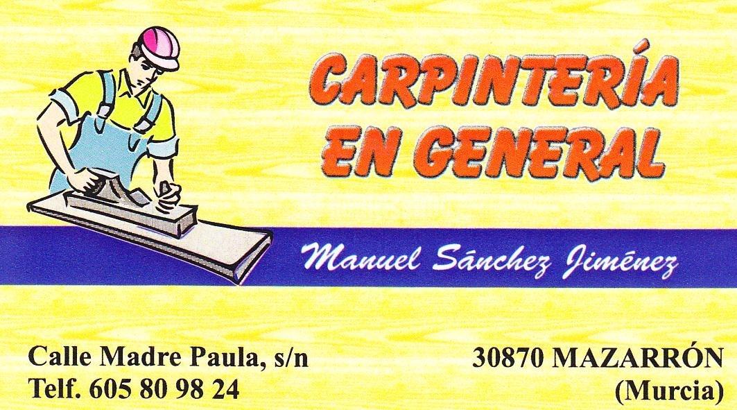 Carpintería Manuel Sanchez Jiménez