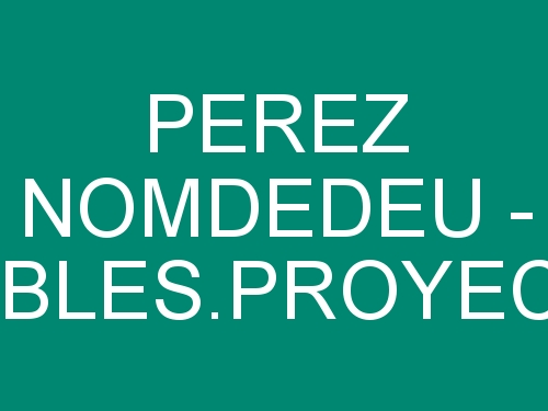 Pérez Nomdedeu - Muebles y Proyectos