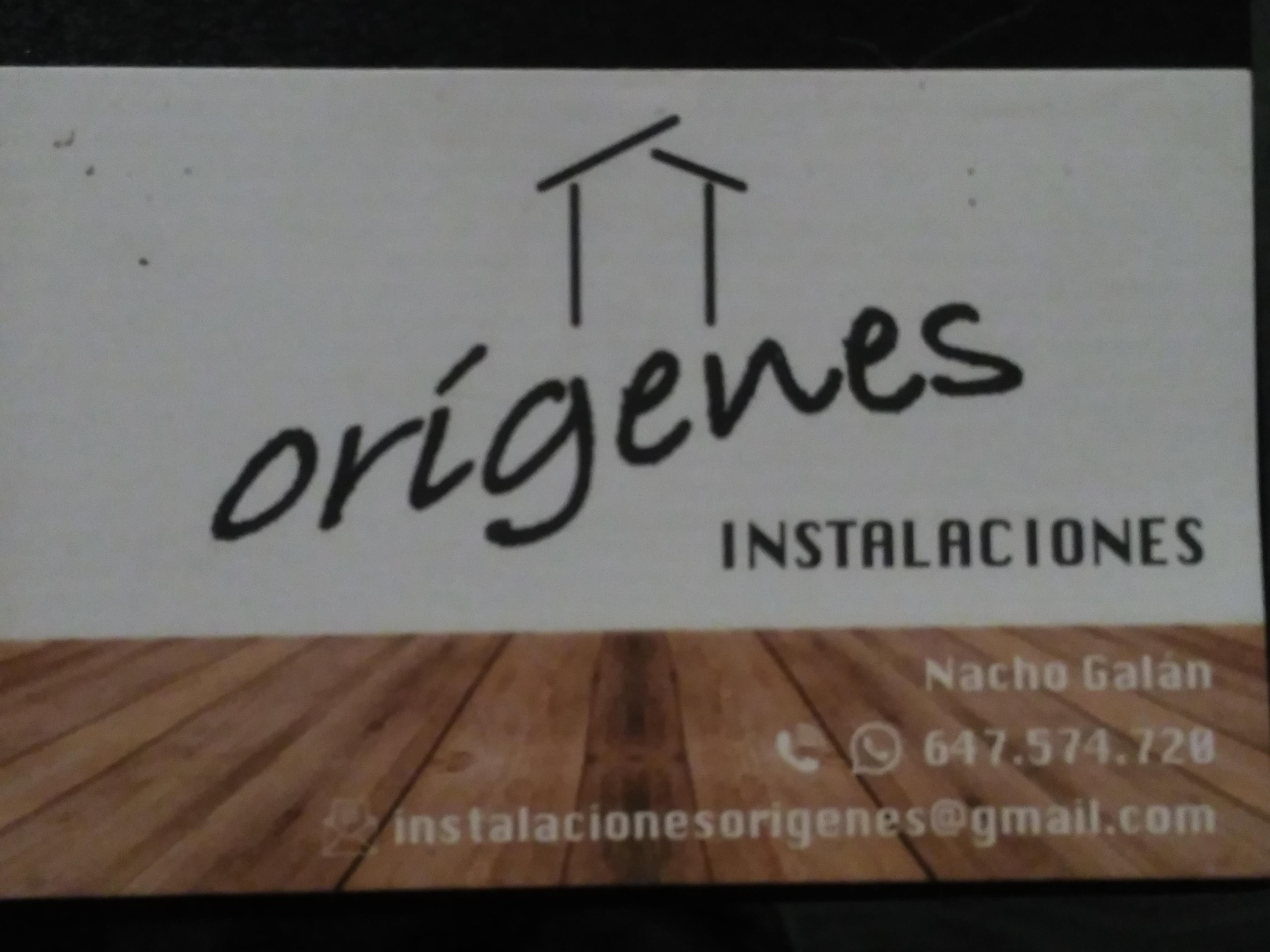 Instalaciones Origenes