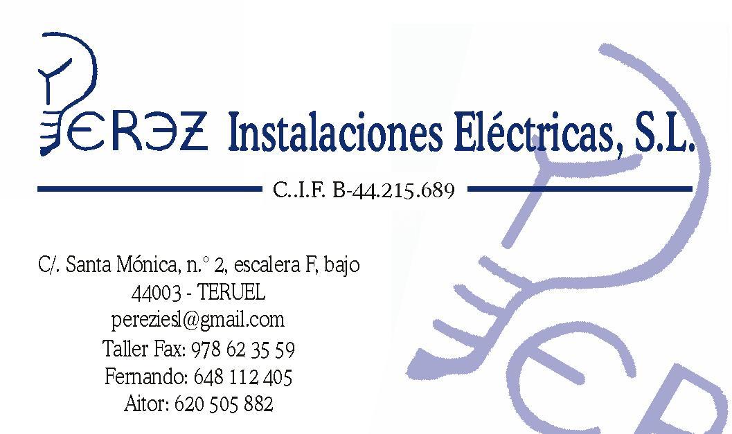 Pérez Instalaciones Eléctricas, s.l.