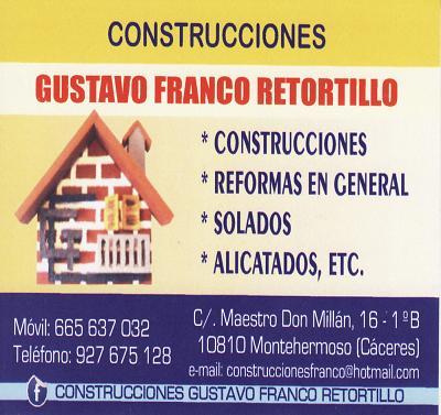 Construcciones Gustavo Franco Retortillo