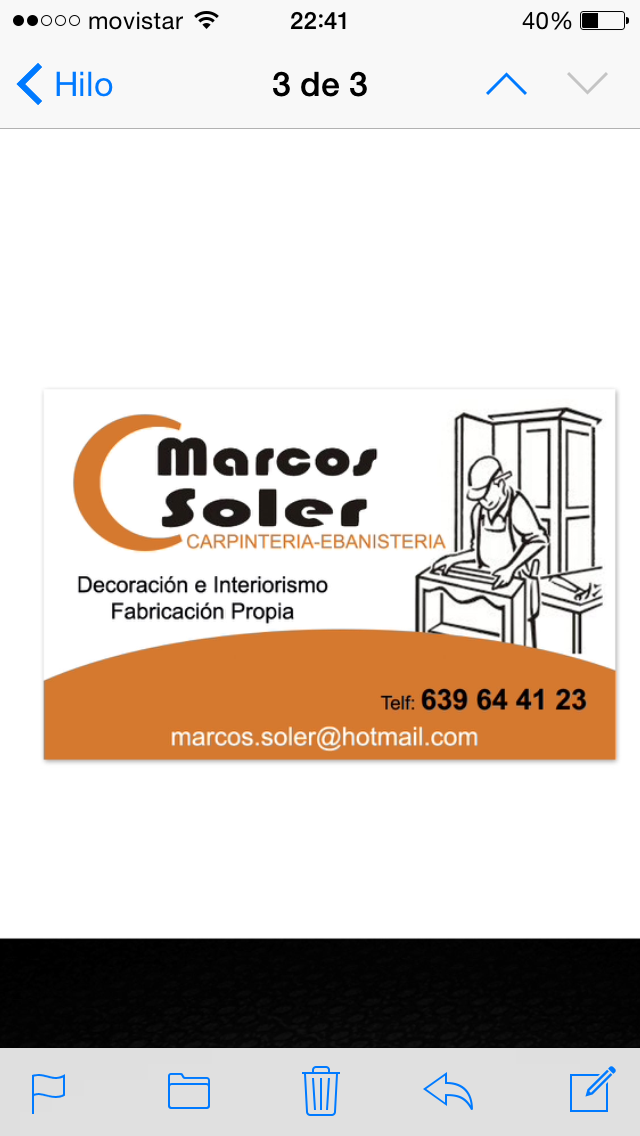 Carpintería y Ebanistería Marcos Soler