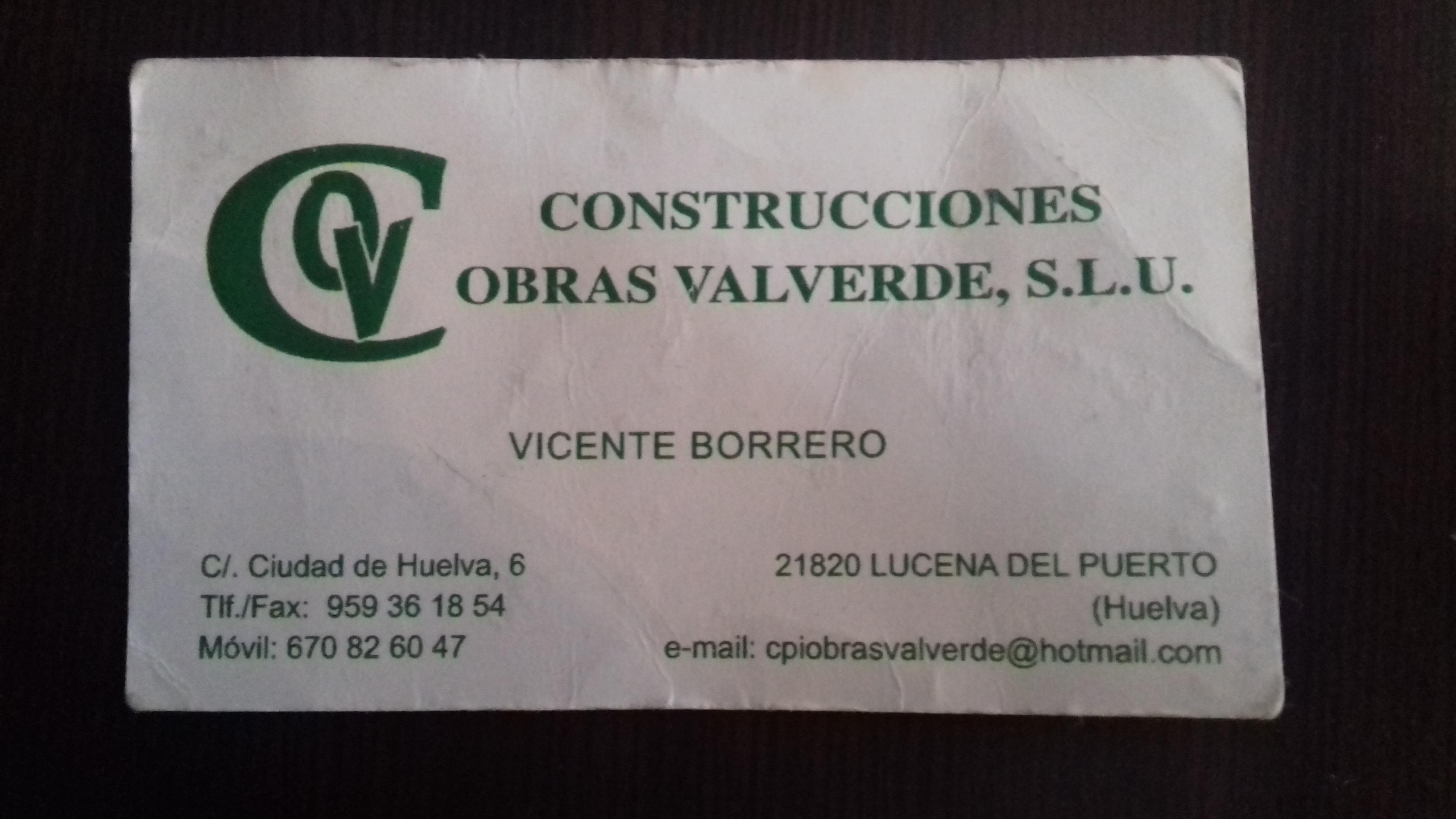 Obras Valverde S.l.u