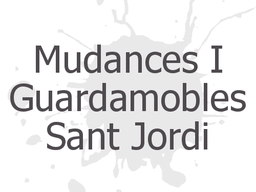 Mudances I Guardamobles Sant Jordi