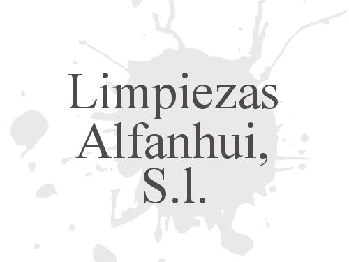 Limpiezas Alfanhui, S.l.