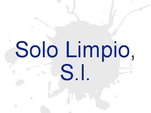 Solo Limpio, S.l.
