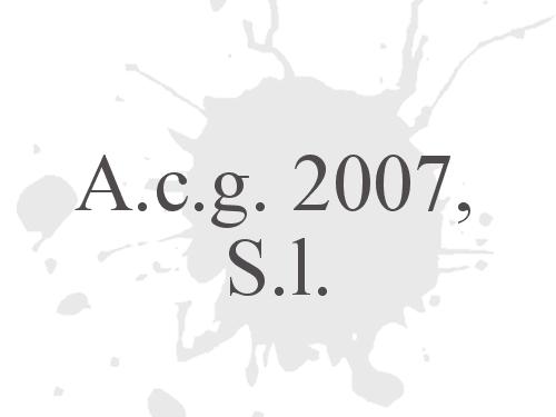 A.c.g. 2007, S.l.