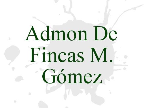Admon De Fincas M. Gómez