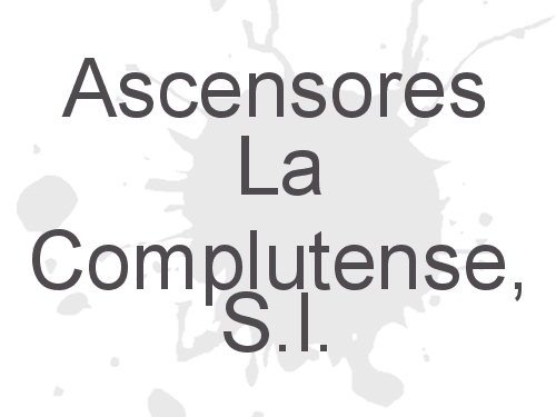 Ascensores La Complutense, S.l.