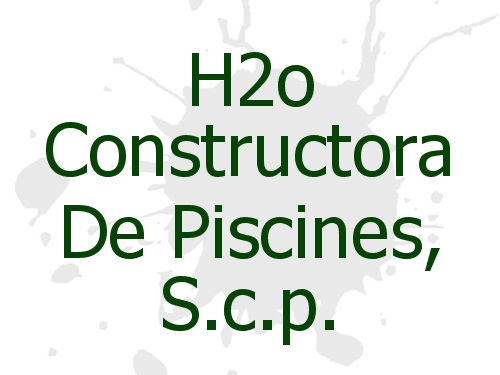 H2o Constructora De Piscines, S.c.p.