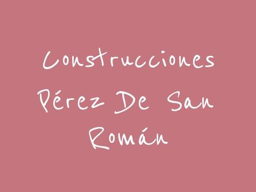 Construcciones Pérez De San Román