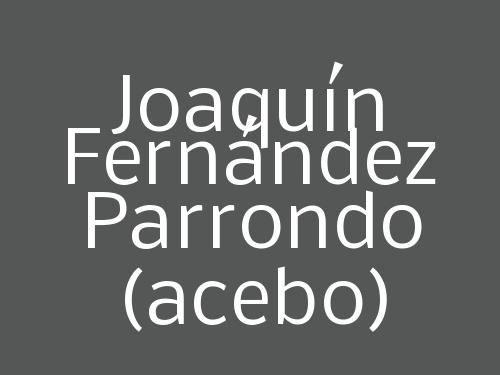 Joaquín Fernández Parrondo (acebo)