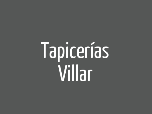 Tapicerías Villar